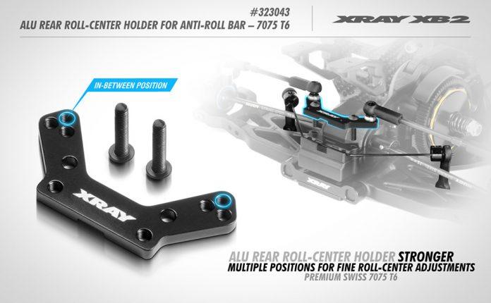 Xray XB2 Alu Rear Roll-Center Holder
